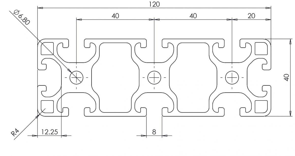 profil konstrukcyjny 40x120 wymiary