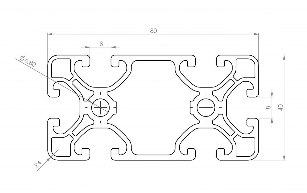 profil konstrukcyjny 40x80 wymiary