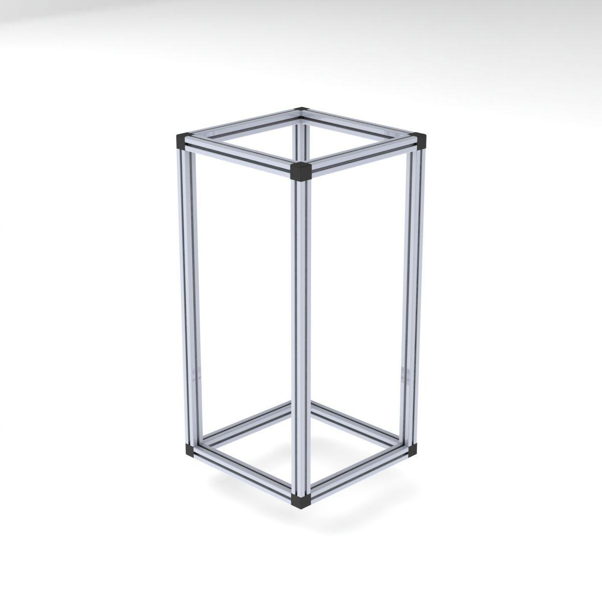 szescian z profili aluminiowych 40x40